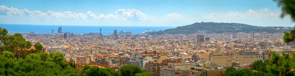 Barcelona látképe