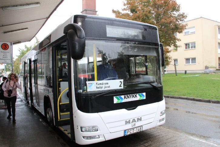 Szia Komárom - Új buszok álltak forgalomba Dél-Komáromban
