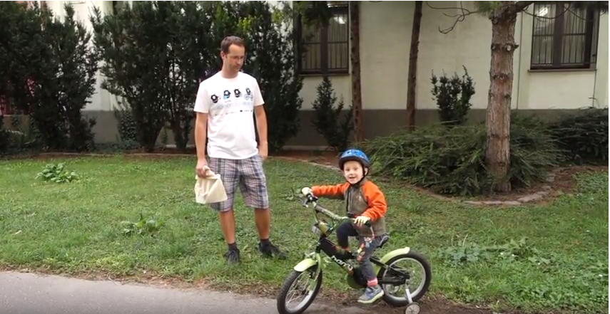 Szia Komárom - Bujna Zoli három éves kisfia is ott lesz a holnapi bringás felvonuláson