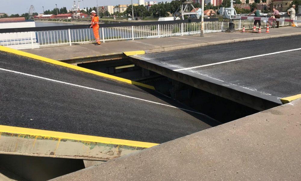 Szia Komárom - A munkálatok befejeződtek, hétfő délutántól újra járható a felnyitható híd