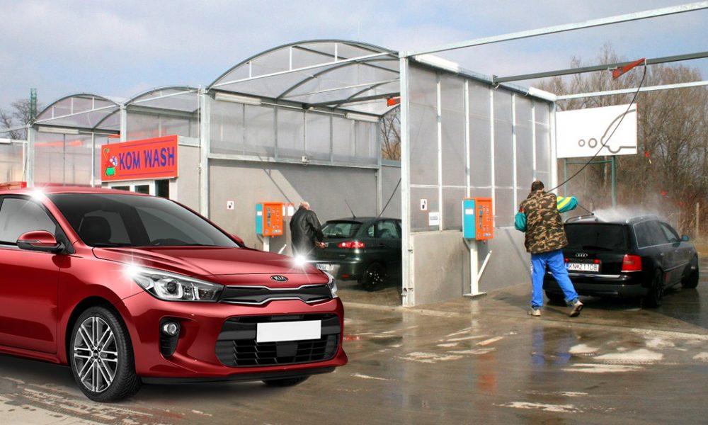 Szia Komárom - Egy hely, ahol a csípős hideg sem okoz kellemetlenséget az autó mosása során
