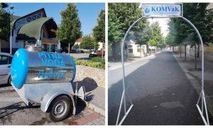 Szia Komárom - A KOMVaK megkezdte a párakapuk kihelyezését