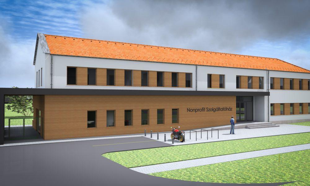 Szia Komárom - Kezdődik az új szolgáltatóház építése