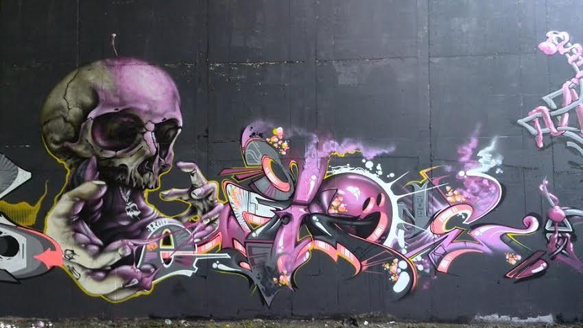 Egy graffiti, Michal alkotása