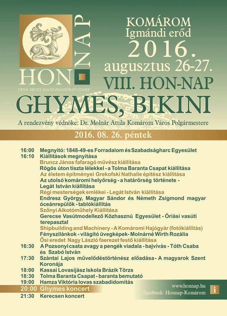 HON-NAP-pénteki-program