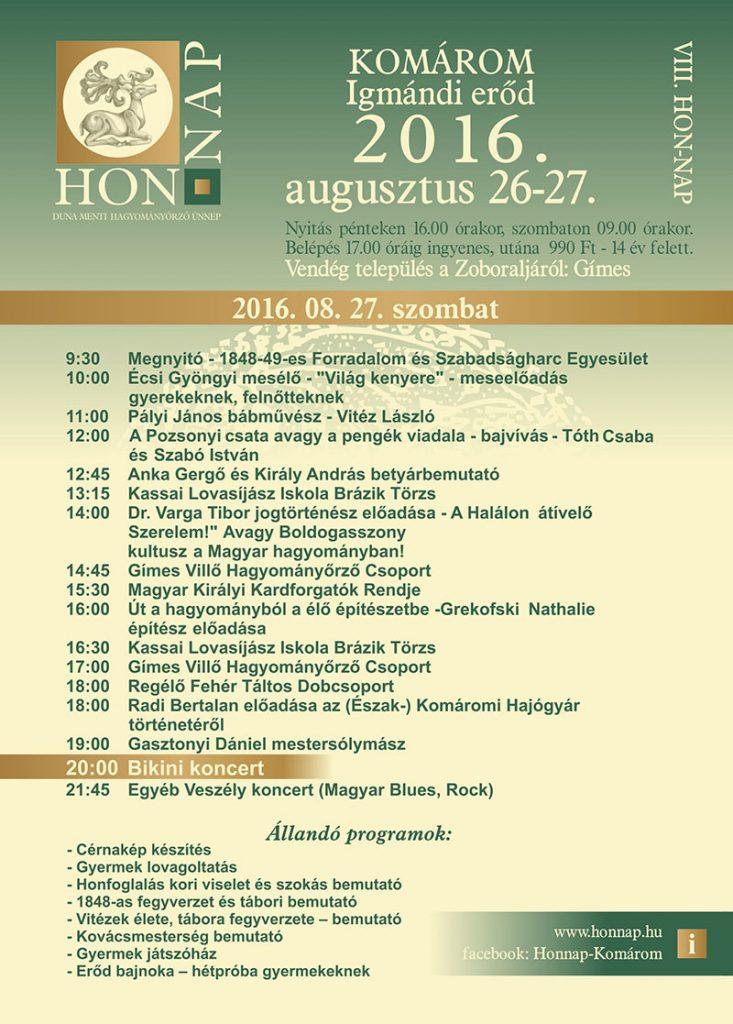HON-NAP-szombati-program