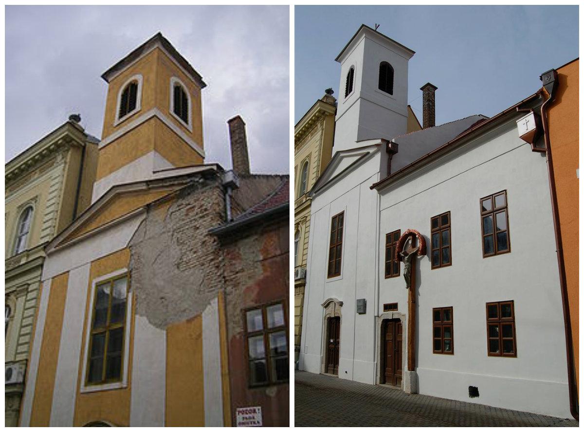 A Szent Anna-kápolna régen - és most